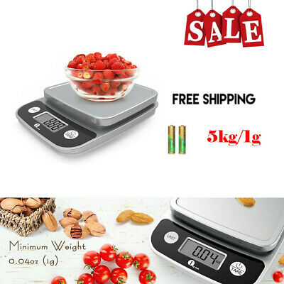 Best 11lb/5kg Accurate Kitchen Digital Scale Food Diet Baking Electronic