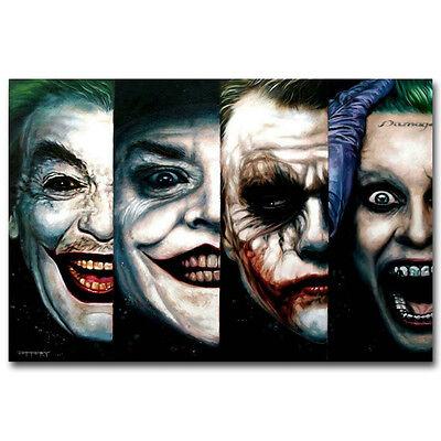 Batman Poster (Joker Art Silk Poster - Batman The Dark Knight Suicide Squad Superheroes Movie )
