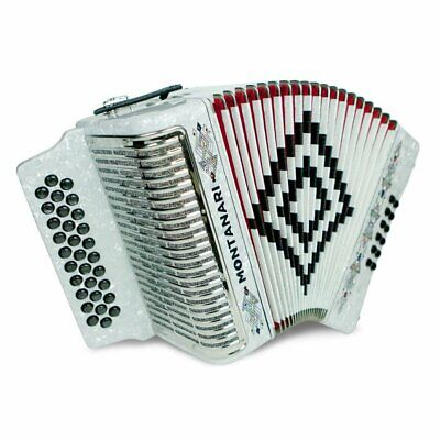 Montanari 3112 MG Accordion GCF White