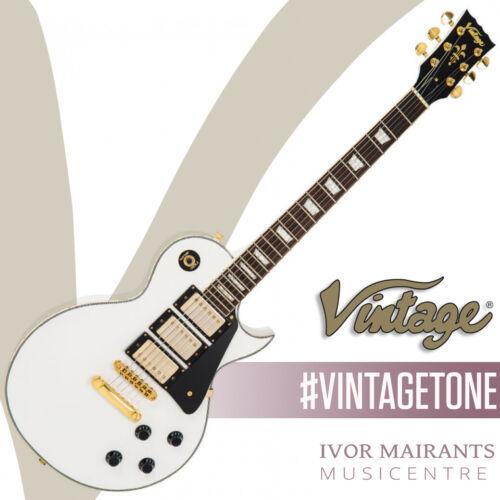 Vintage V100 3 Pickup Electric Guitar - Arctic White V1003AW