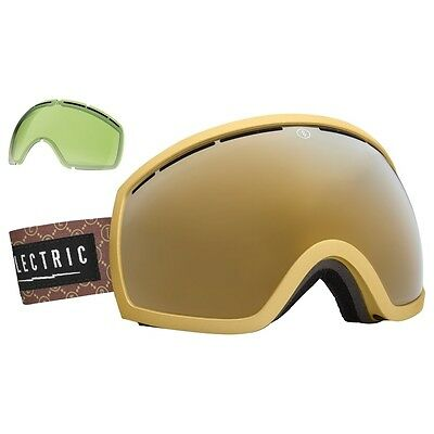 NEW Electric EG2 Hustle Gold Mirror mens ski snowboard goggles xtra lens Ret$160