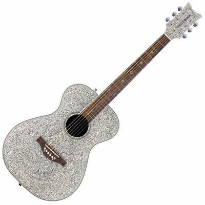Daisy Rock Pixie Acoustic Guitar - Silver Sparkle DR6206