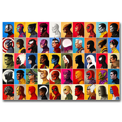 Marvel Comic All Superheroes Characters Anime Silk Poster 12x18 24x36 inch