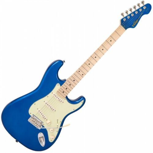 VINTAGE V6 JOHN VERITY SIGNATURE ELECTRIC GUITAR ~ CANDY APPLE BLUE - V6JVCAB