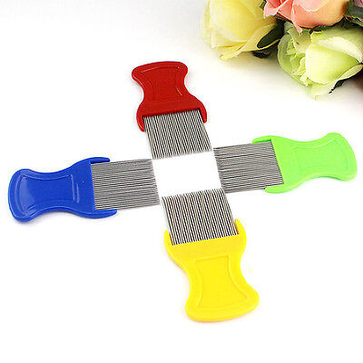 Stainless Steel Combs for Head Lice Dectection Kids Pet Flea Cootie Comb New