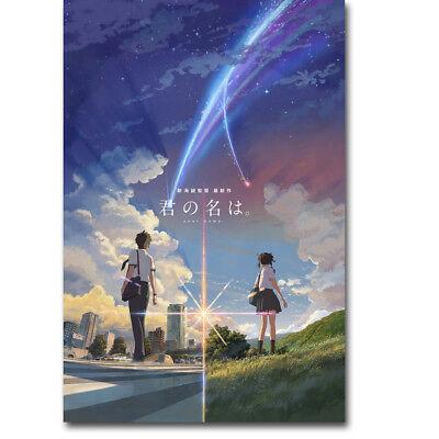Your Name Japan Cartoon Movie Canvas Poster Art Prints Decor 12X18 24X36 Inch