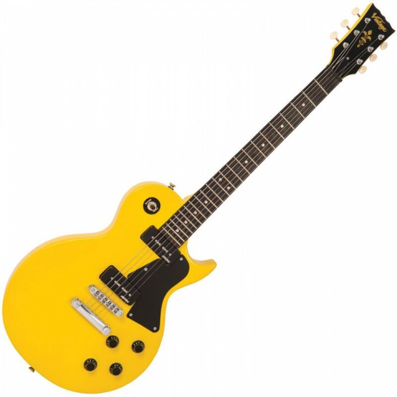 Vintage V132 Reissued Electric Guitar - TV Yellow