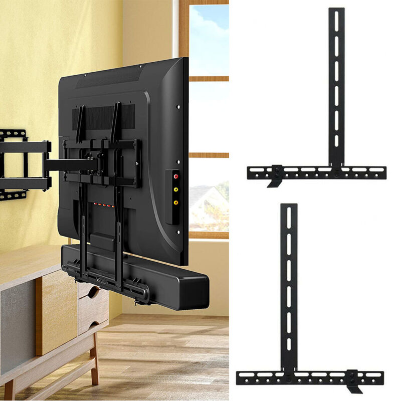 Adjustable Sound Bar Playbar Speaker TV Bracket VESA Mount Holder Capacity 22Lbs