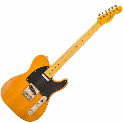 Vintage V52 Icon Distressed Electric Guitar - Butterscotch - V52MRBS
