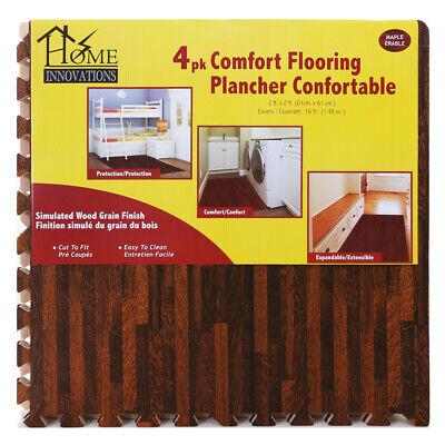 Home Innovations Anti Fatigue Interlocking Foam Tile Mats Dark Wood (8 Pack)