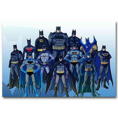 Batman Family Superheroes Art Silk Canvas Poster Print 12x18 24x36 inch 014 - Superhero Poster