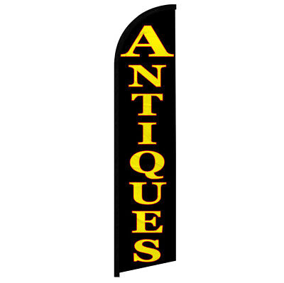Antiques Windless Swooper Advertising Feather Flag Antique Store