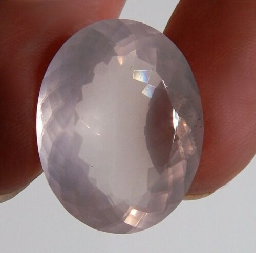 28ct VVS Natural Pink Rose Quartz Earth Mined Untreated Unheated 23x18 USASeller