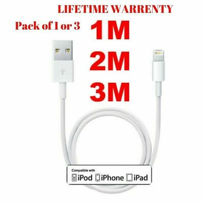 Genuine Apple iPhone Charger Cable 1M 2M Long Lead Lightning To USB Cable Fast 1
