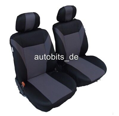 Schwarze Sitz (2 grau schwarze Sitzbezug Sitzbezüge Schonbezüge )