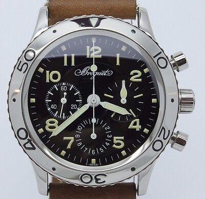Breguet Type XX Aeronavale Chronograph ref.3800 Mens 39mm Steel Automatic Watch