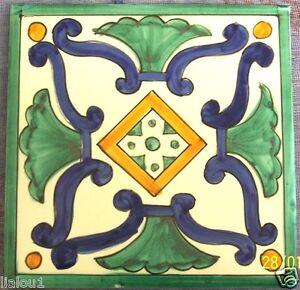 Mattonella piastrella 15x15 ceramica vietri tile maiolica for Piastrelle maiolica cucina