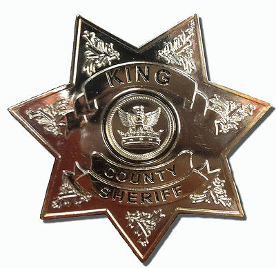 Zombie Apoc TV Show The Walking Dead King County Sheriff Badge Costume Accessory