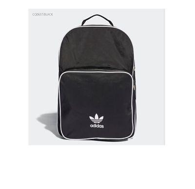 150cd8425e NWT CW0637 adidas Originals Classic Adi-color Medium Black Backpack Bag  School a