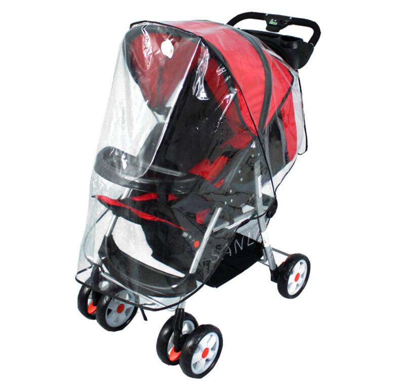 Universal Baby Pram Standard Stroller Rain Storm Dust Cover Canopy