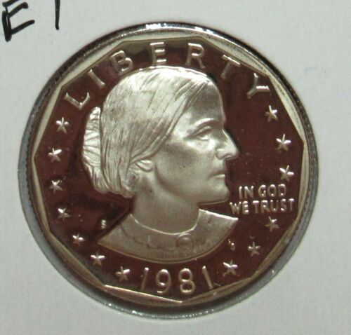 1981 S Type 1 Proof Susan B. Anthony Dollar
