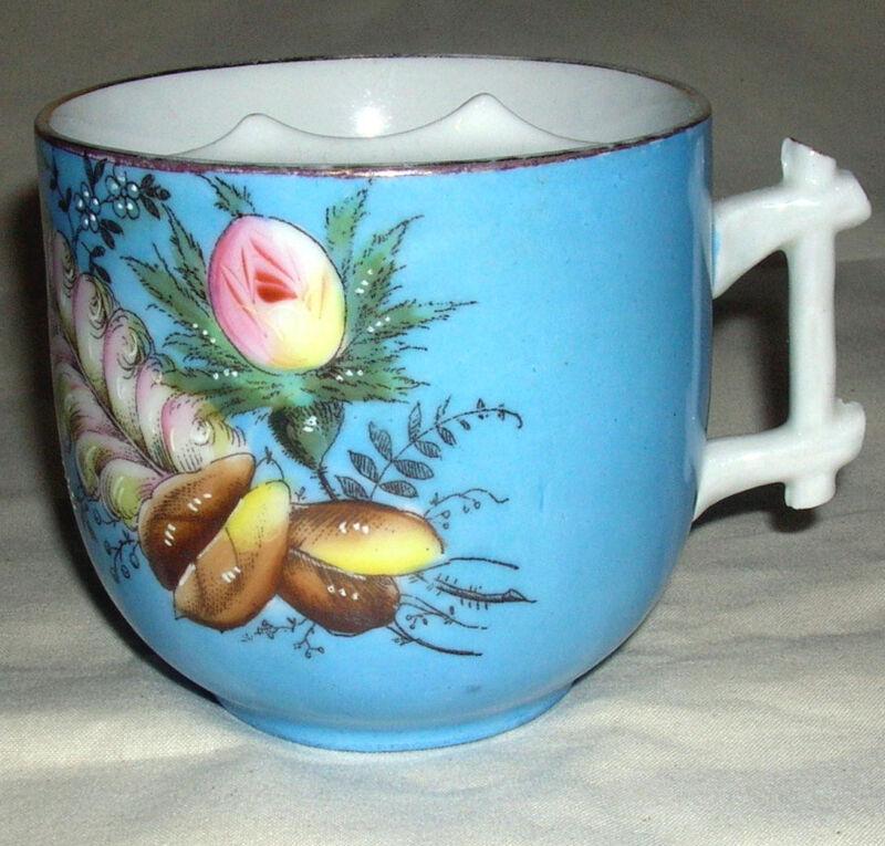 1890 Porcelain Hand Painted MUSTACHE CUP