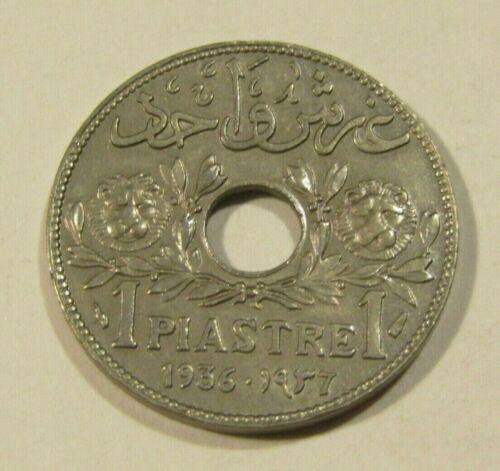 Lebanon 1936 1 Piastre Coin