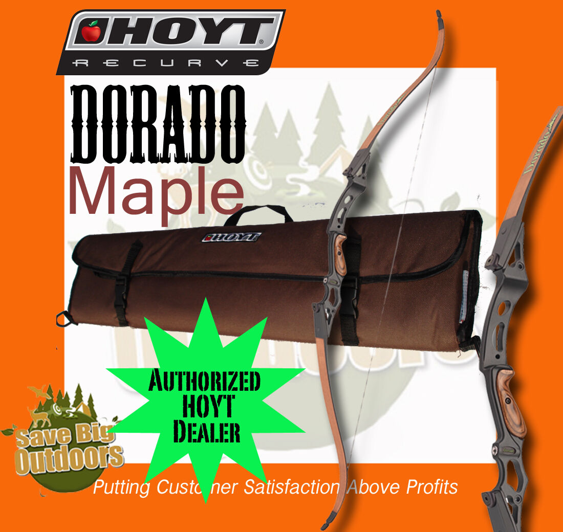 Lh Hoyt Dorado Recurve Bow Maple And Black 60 40lb Free Ship Customers 1st
