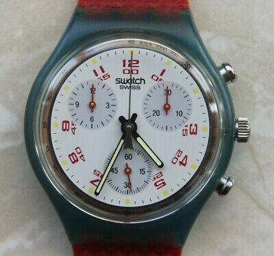 SWATCH CHRONOGRAPH SCN103 - JFK / AG1991 - AMAZING CONDITION