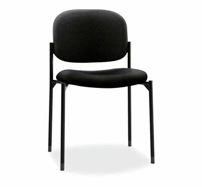 Hon Scatter Guest Chair - Leather Stacking Chair Office Furniture Black...