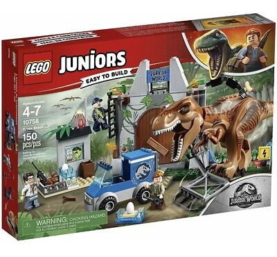 Lego Jurassic World Junior T-Rex Breakout 10758 Age 4+ Retired New Sealed