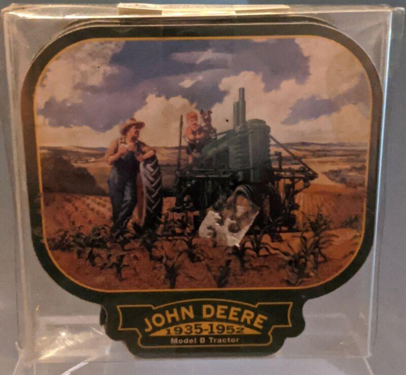John Deere green Tractor Coaster Set of 4