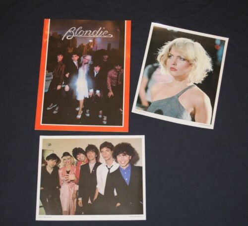 1979 Blondie Fan Club tour program + Debbie Harry picture Deborah + band photo