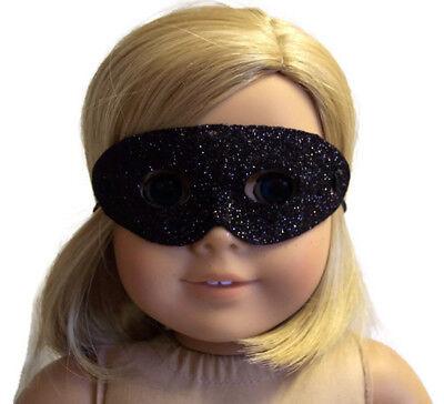 Black Glitter Halloween Mask made for 18