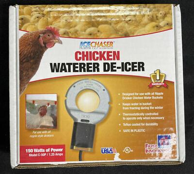 Farm Innovators Chicken Waterer Deicer, One Size, Silver/Black (C-50P)