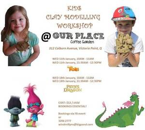 KIDS HOLIDAY CLAY MODELLING WORKSHOP @ vic point Sheldon Brisbane South East Preview