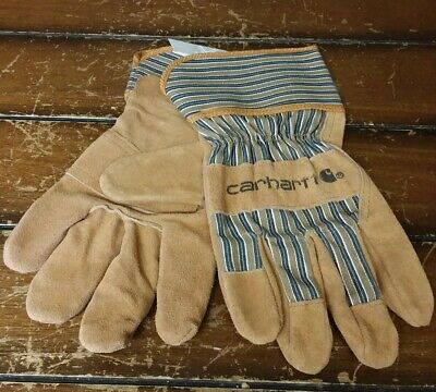 Carhartt Insulated Suede Safety Cuff Work Glove Carhartt Brown Lg-new