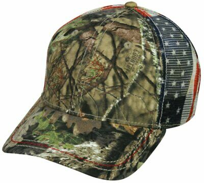 New Mossy Oak Camouflage American Flag Mesh Baseball Hat for sale  Shipping to South Africa