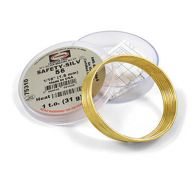 Harris Safety-silv 56 116 Silver Solder Brazing Alloy 1 Troy Ounce 75310 5631