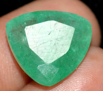 15.2x14.3mm (8.45cts) TRILLIANT-FACET CERTIFIED NATURAL (AGSL) COLOMBIAN EMERALD