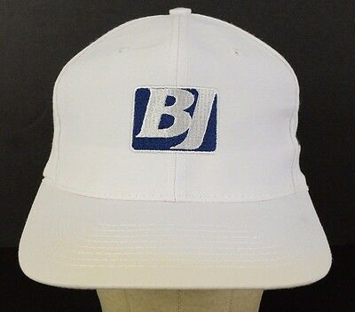 Bj Services Victoria Texas Embroidered White Baseball Hat Cap Adjustable