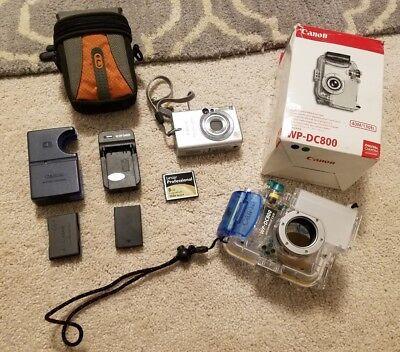 Canon PowerShot S410 Digital Camera & Canon WP-DC800 Underwater Housing Bundle