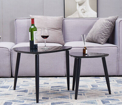 Set of 2 Nesting Coffee Table  Modern Side Table  End Table Multification Modern