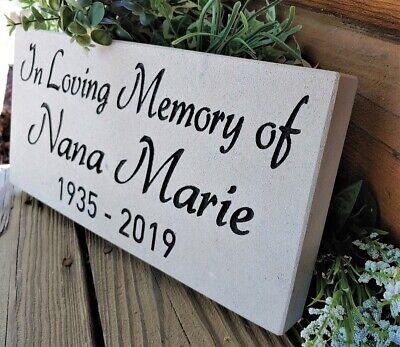 LARGE Limestone Grave Marker Headstone Garden Stone Paver Memorial FREE SHIPPING