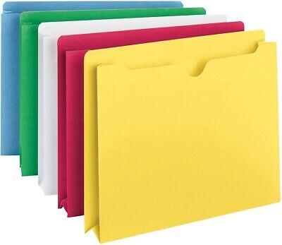 Smead Expanding File Folder Jacket Letter Size Pocket Folders Assorted Colors