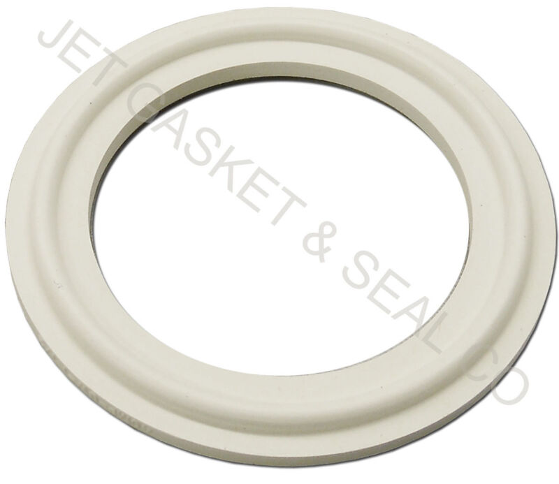 """LOT OF 5 WHITE SILICONE TRI CLAMP SANITARY GASKETS 1-1/2"""" TRICLAMP TRI-CLOVER"""