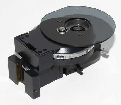 Leica Dm-irbe Microscope Condenser Carrier No Diskstop Lens Parts Or Repair