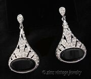 Vintage Art Deco Rhinestone Earrings