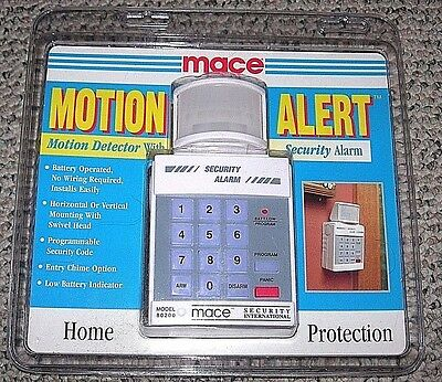 NEW Mace Brand Motion Detector Alert Security Alarm 80200 Portable Battery (Mace Motion Detector)