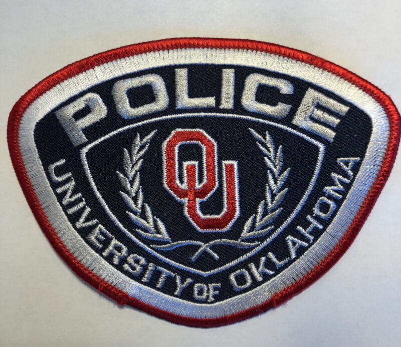 University Of Oklahoma Campus Police Patch~New Condition